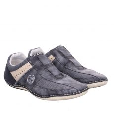 Bugatti, Canario, sportiver Textil-Slipper in blau für Herren