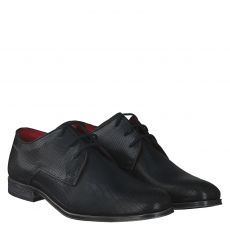 Bugatti, Laurentinus, eleganter Glattleder-Schnürer in schwarz für Herren