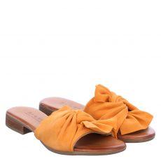 Sailer, Lola, Veloursleder-Pantolette in orange für Damen