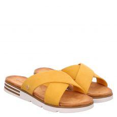 Lieblingspaar Textil-Pantolette in gelb für Damen