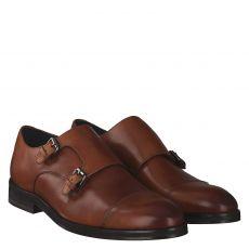 Joop, Kleitos Monk Lace Up, eleganter Glattleder-Slipper in braun für Herren