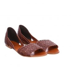 Sailer, Tiny, Glattleder-Sandalette in braun für Damen