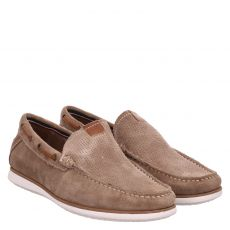 Sailer, Miller, eleganter Veloursleder-Slipper in beige für Herren