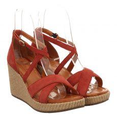Sailer, Sascha, Veloursleder-Sandalette in braun für Damen