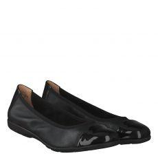 Caprice Glattleder-Ballerina in schwarz für Damen