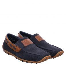 Rieker eleganter Veloursleder-Slipper in blau für Herren