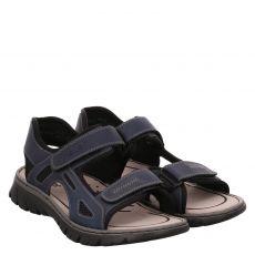 Rieker Kunstleder-Sandale in blau für Herren