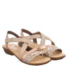 Rieker Textil-Sandalette in beige für Damen