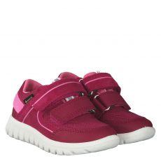 Superfit, Rot, Veloursleder-Halbschuh in pink für Mädchen