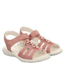 Ricosta, Cara, Nubukleder-Sandale in rosé für Mädchen