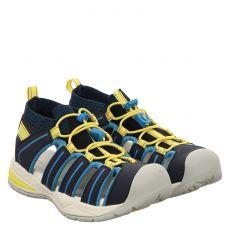 Ricosta, Byron, Kunstleder-Sandale in blau für Mädchen