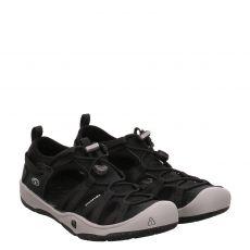 Keen, Kids Moxie Sandal, Textil-Sandale in schwarz für Jungen