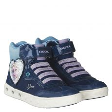 Geox, J Skylin G. D, Textil-Halbschuh in blau für Mädchen