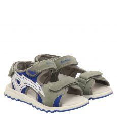 Richter Veloursleder-Sandale in grau für Jungen