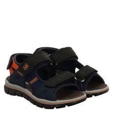 Sailer Kunstleder-Sandale in blau für Jungen