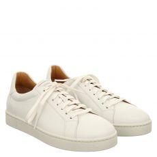 Magnanni sportiver Glattleder-Schnürer in weiß für Herren