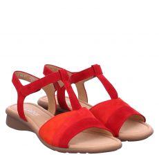 Gabor Lady Veloursleder-Sandalette in rot für Damen
