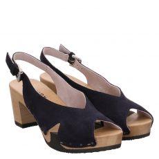 Softclox, Wiebke, Veloursleder-Sandalette in blau für Damen