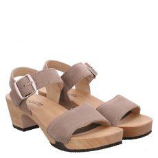 Softclox, Kea, Veloursleder-Sandalette in grau für Damen