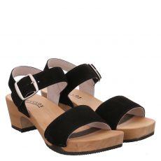 Softclox, Kea, Veloursleder-Sandalette in schwarz für Damen