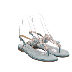 Alma En Pena Textil-Sandalette in grün für Damen