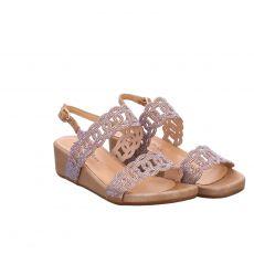 Alma En Pena Kunstleder-Sandalette in beige für Damen