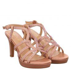 Alma En Pena, Rot, Textil-Sandalette in rosé für Damen