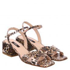 Zinda, Evelin Negro, Kunstleder-Sandalette in creme für Damen