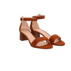 Unisa Veloursleder-Sandalette in braun für Damen