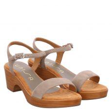 Unisa Veloursleder-Sandalette in grün für Damen