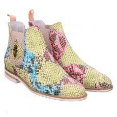 Melvin & Hamilton, Susan 10/btl, kurzer Glattleder-Stiefel in mehrfarbig für Damen
