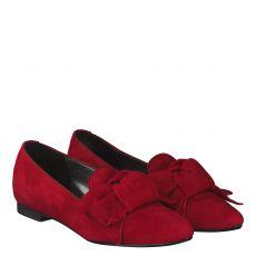 Fernando Strappa Veloursleder-Ballerina in rot für Damen