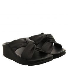 Fitflop, Twiss Slide, Glattleder-Pantolette in schwarz für Damen