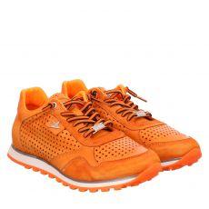 Cetti, Rot, sportiver Glattleder-Schnürer in orange für Herren