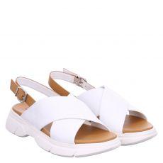 Högl Glattleder-Sandalette in weiß für Damen
