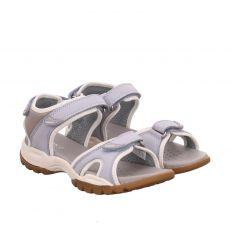 Geox, Borealis, Veloursleder-Sandalette in blau für Damen