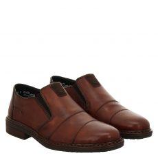 Rieker eleganter Glattleder-Slipper in braun für Herren