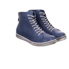 Andrea Conti kurzer Glattleder-Stiefel in blau für Damen