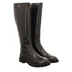 Aigner hoher Glattleder-Stiefel in schwarz für Damen