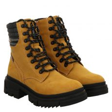 Dockers kurzer Kunstleder-Stiefel in gelb für Damen