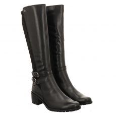 Caprice hoher Glattleder-Stiefel in schwarz für Damen