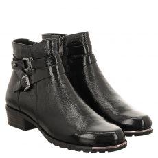 Caprice kurzer Knautschlack-Stiefel in schwarz für Damen