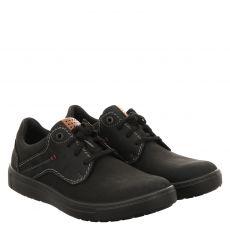 Jomos, Rallye, Nubukleder-Fußbettschuh in schwarz für Herren