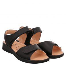 Ganter, Monica, Glattleder-Sandalette in schwarz für Damen