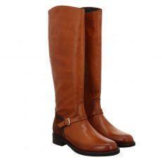La Martina hoher Glattleder-Stiefel in braun für Damen