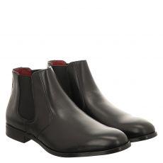 Fernando Strappa eleganter Glattleder-Stiefel in schwarz für Herren
