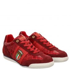 Pantofola D`oro, Fortezza, sportiver Lackleder-Schnürer in rot für Herren