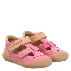 Daeumling, Rot, Glattleder-Sandale in pink für Mädchen
