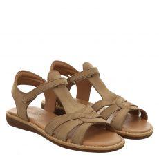 Sabalin Nubukleder-Sandale in braun für Mädchen