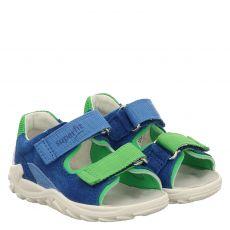Superfit Veloursleder-Sandale in blau für Jungen